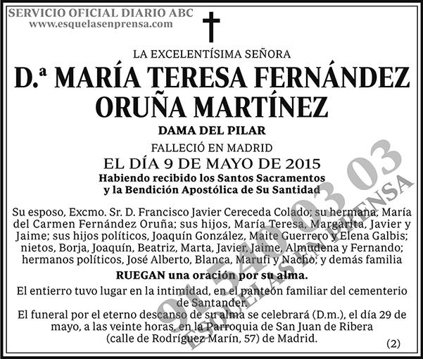 María Teresa Fernández Oruña Martínez